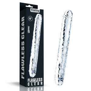 Lovetoy Flawless Clear Double dildo 12""