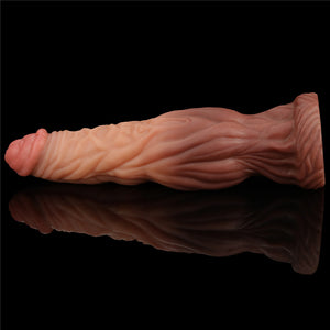 Lovetoy 9.5'' Dual layered Liquid Silicone Nature Cock