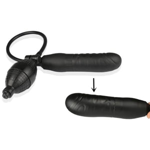 Inflatable Pump and Play Dildo, 5.5 inch