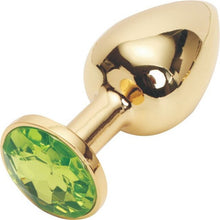 Load image into Gallery viewer, Metallic Gold Butt Plug with Diamond