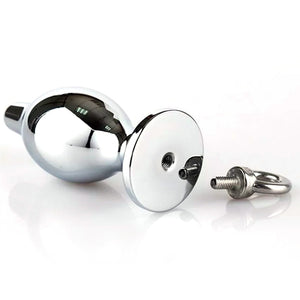 Metallic Butt Plug with Detachable Screw-in Loop