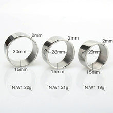 Load image into Gallery viewer, Stainless Steel A Penis Ring (Multiple Sizes)