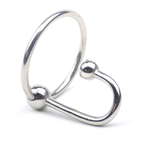 Stainless Steel Sperm Stopper with Glans Ring (Multiple Sizes)