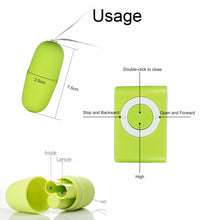 Load image into Gallery viewer, MP3 Shape Mini Bullet Egg Vibrator with Wireless Remote Control, 20 Mode