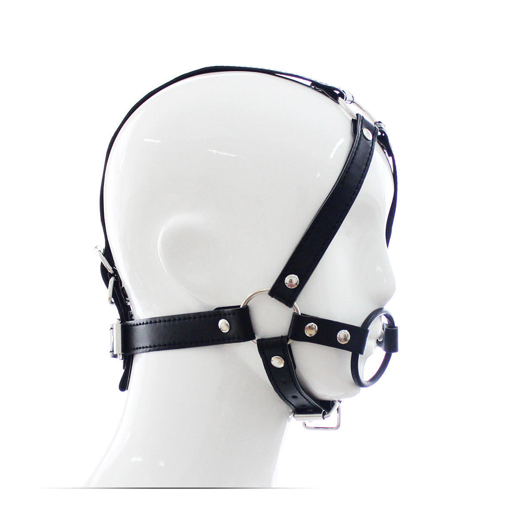 Faux Leather Open Mouth Ring Gag