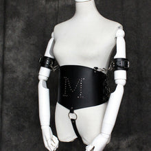 Load image into Gallery viewer, Faux Leather Arm Tie Body Harness Lingerie
