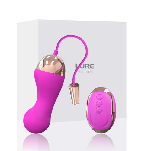 LX Vibrating Love Egg Vibrator with Remote, 10 Function