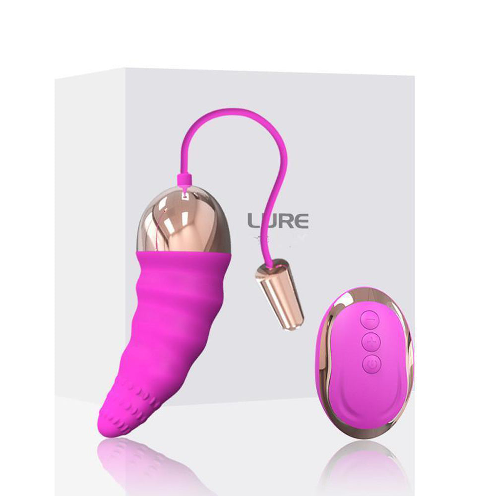 LX II Vibrating Love Egg Vibrator with Remote, 10 Function