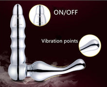 Load image into Gallery viewer, L Shaped Metal Vibrating Prostate Massager