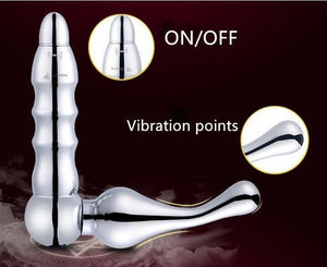 L Shaped Metal Vibrating Prostate Massager