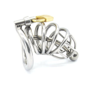 Chastity Cage with Urethral Plug