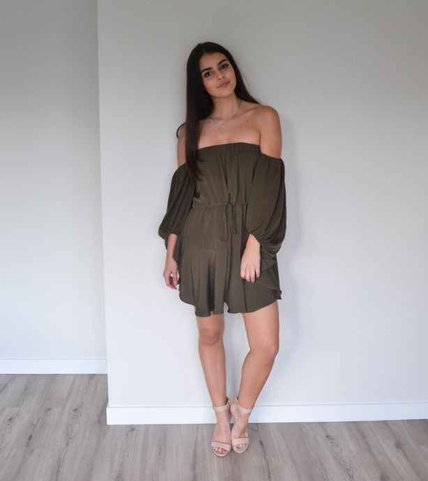 Shona Joy Core Off the Shoulder Mini Dress