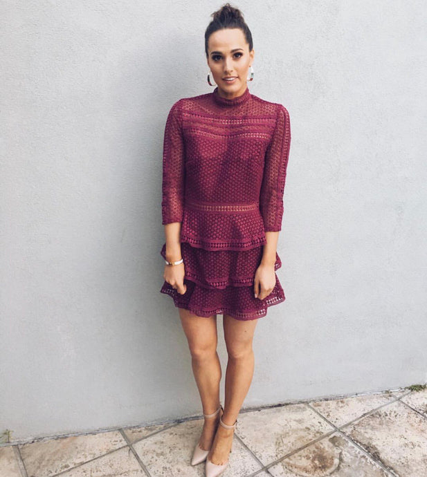 Caya Dress - Burgundy