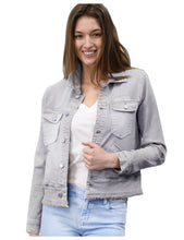 Load image into Gallery viewer, Ruffle My Feathers Denim Jacket