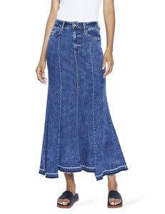 Maxi Hi-Low Denim Skirt