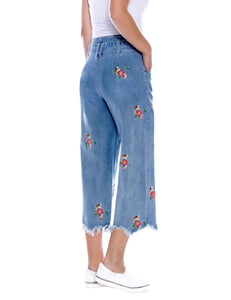 Flower Power Embroidered Jeans