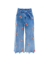 Load image into Gallery viewer, Flower Power Embroidered Jeans