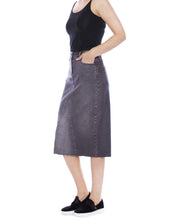 Load image into Gallery viewer, Sally Midi Pieced Denim Skirt