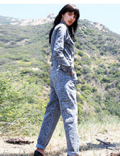Load image into Gallery viewer, Snake Print Cotton Denim Flight Suit