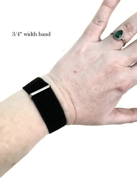 Acupressure Anti-Stress Bracelet, Anxiety Relief Band, Relaxation Bracelet (single) B/W Shimmer - Acupressure Bracelets