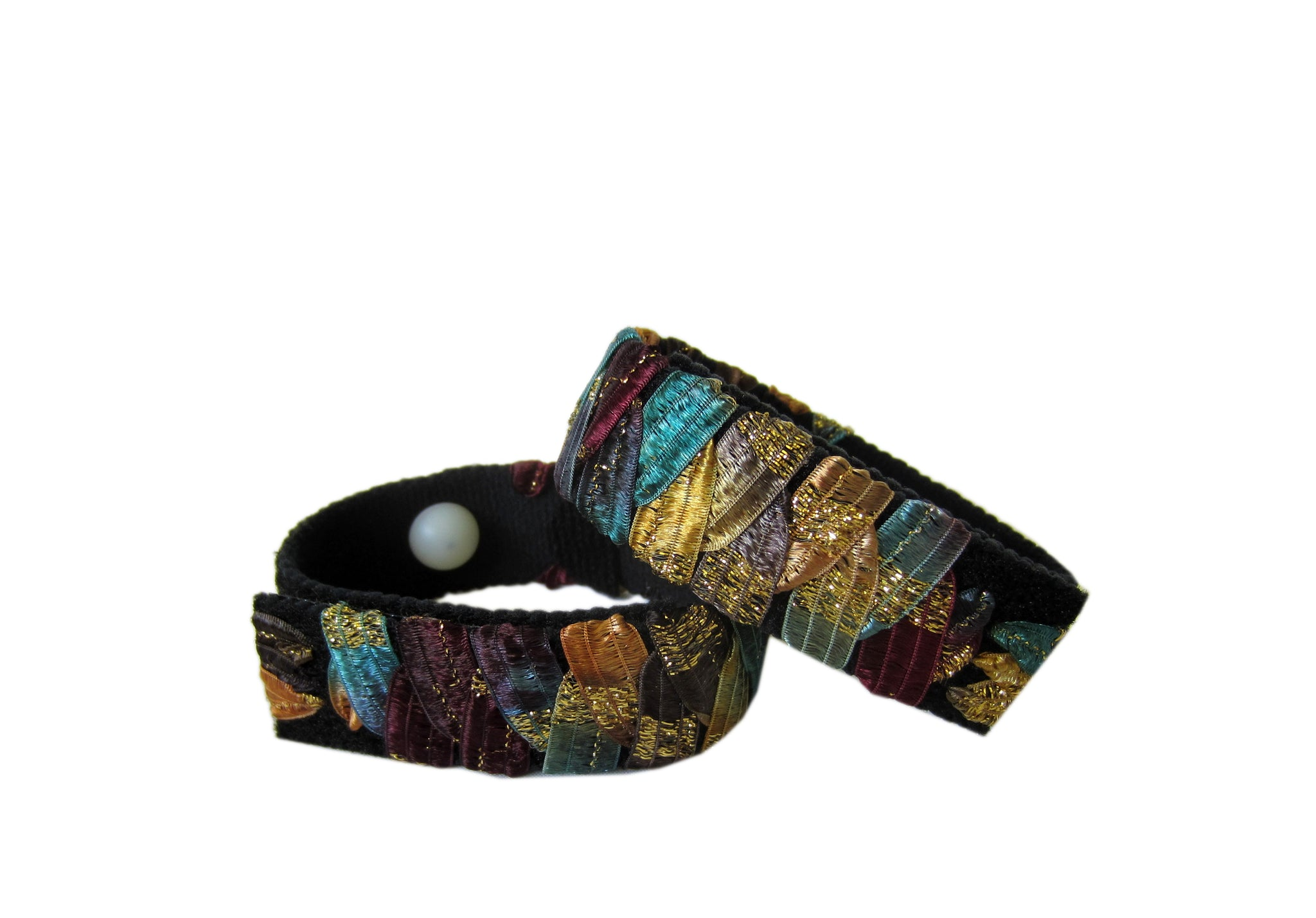 Anti-Nausea/Motion Sickness Bracelets (pair) Timber Metallic - Acupressure Bracelets