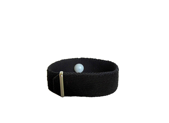 Scented/Aromatherapy Acupressure Bracelet for Anxiety, Insomnia, Stress, Nausea, Irritability, and more. (one band) Black - Acupressure Bracelets