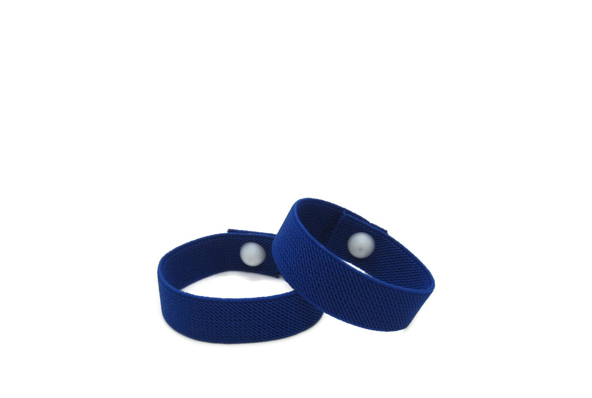 Waterproof Motion Sickness Wristbands, Pull On Elasticated, Travel Wristbands, Anti Nausea Bracelet, Morning Sickness Bracelet (pair) Royal Blue - Acupressure Bracelets