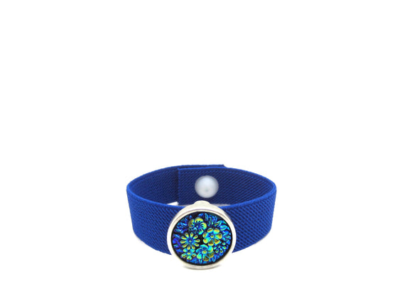 Anti Anxiety Bracelet, Pull On Elasticated Band, Nausea Bracelet, Water Resistant Band, Sleep Bracelet, Headache Band (single) Flowers - Acupressure Bracelets