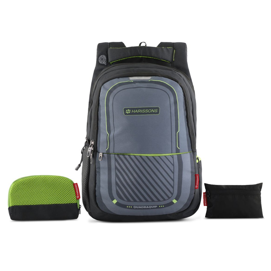 Verge Laptop Backpack with Free Rain cover and Pouch