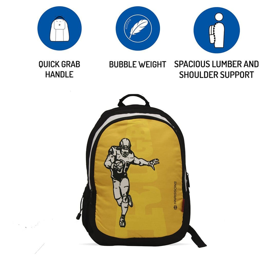 Rugby 30L Printed School Backpack