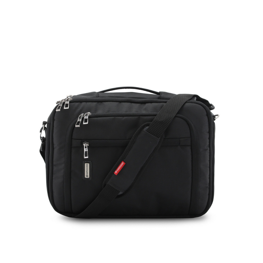 "Metro 17L 3-in-1 Executive Laptop Messenger Backpack with USB|AUX Port (15.6"")"