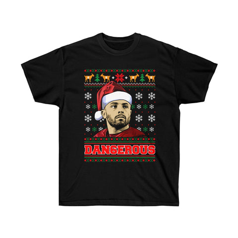 Baker Mayfield Christmas Ugly Shirt - Dangerous Baker Mayfield - Baker Mayfield Xmas Tee Shirt
