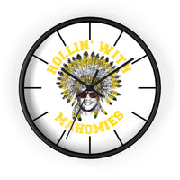 Rollin' With Mahomies Patrick Mahomes Wall clock