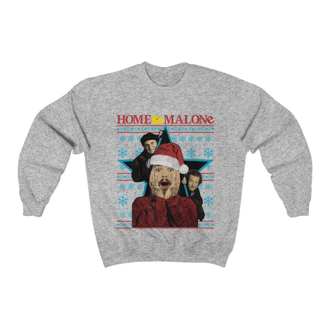 Post Malone Home Merry Ugly Christmas Rockstar funny Christmas Sweatshirt Unisex Sweater