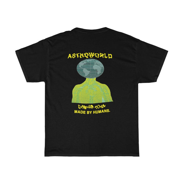 Astroworld Travis Scott Made By Humans Unisex Heavy Cotton T Shirt