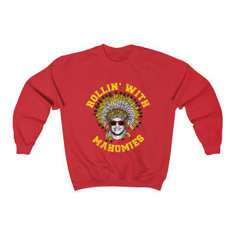 Rollin' With Mahomies Red Sweater Unisex Heavy Blend™ Crewneck Sweatshirt