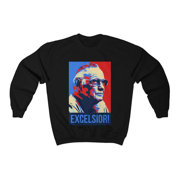 Stan Lee Excelsior Sweatshirt - Comics Superheroes Stan Lee Superhero Sweater - RIP Stan Lee - Gift Christmas Marvel Family