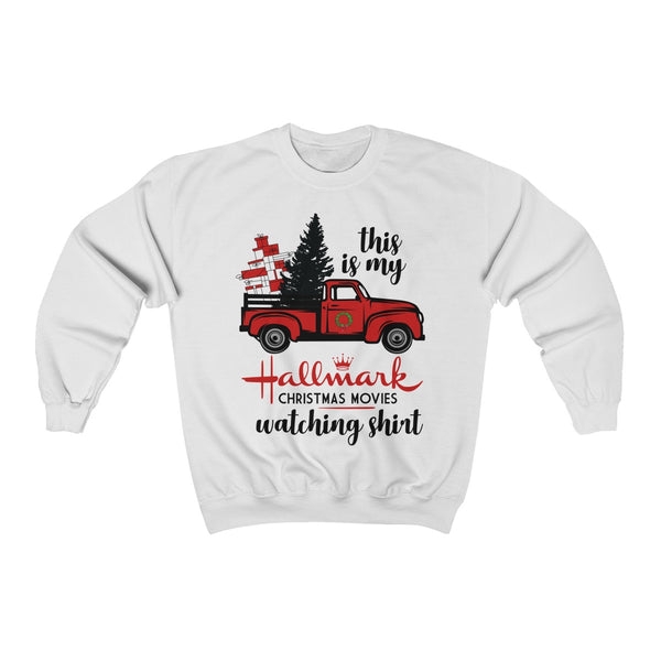 This Is My Hallmark Christmas Movie Watching Shirt Ugly Christmas Unisex Heavy Crewneck Sweatshirt