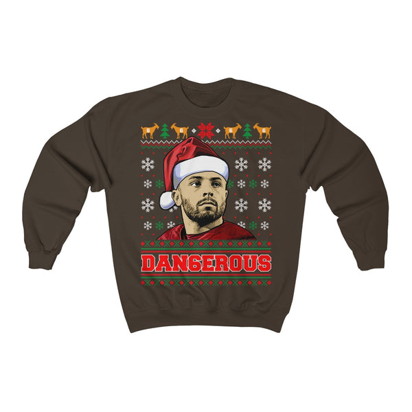 Baker Mayfield Christmas Ugly Sweatshirt - Dangerous Baker Mayfield Sweater Hoodie - Baker Mayfield Xmas Tee Shirt