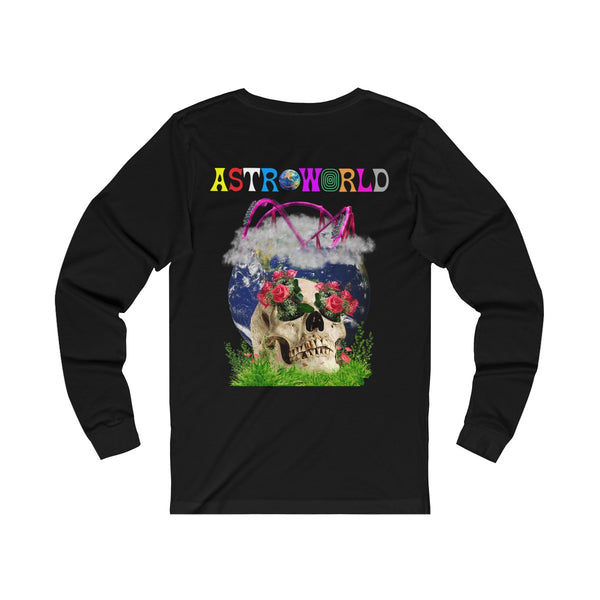 ASTROWORLD Roller Coaster Long Sleeve T Shirt - Nostalgic Houston Texas Happiness T Shirt
