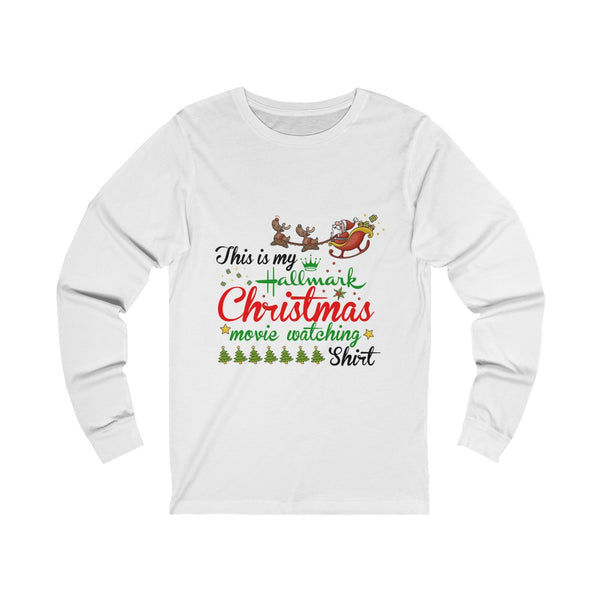 This Is My Hallmark Christmas Movie Watching Shirt Ugly Christmas Unisex Jersey Long Sleeve T Shirt