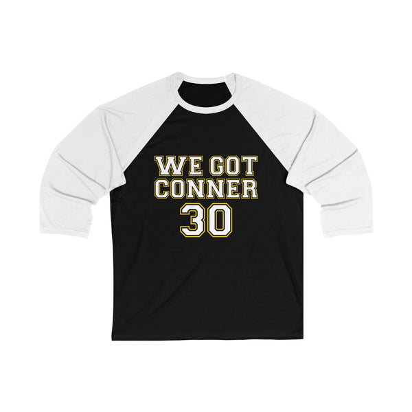 3 We Got Conner James Conner T Shirt Unisex 3/4 Sleeve Baseball Tee