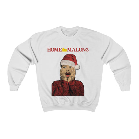 Home Malone Sweater Post Malone Christmas Gift Unisex Heavy Blend™ Crewneck Sweatshirt