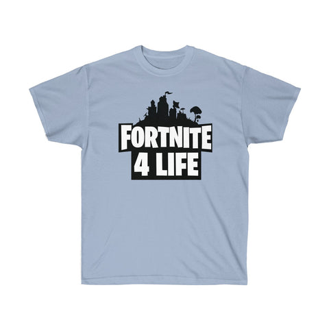 Fortnite For Life Game T Shirt Unisex Ultra Cotton Tee