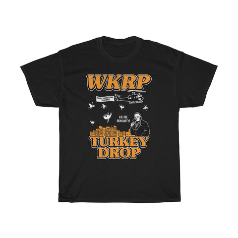 First Annual WKRP Turkey Drop As God is My Witness ThanksGiving Shirt Unisex T Shirt Thanksgiving Day Gift