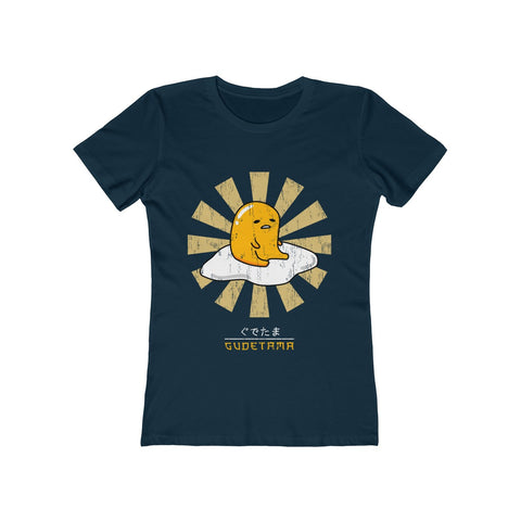 Gudetama Sanrio Tee Shirt - Gudetama JAPANESE Lazy Egg Whitte T Shirt - Lazy Egg Christmas Shirt Women's The Boyfriend Tee