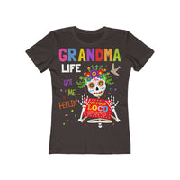 Grandma Life Got Feelin' Un Poco Loco Women's The Boyfriend Tee Shirt