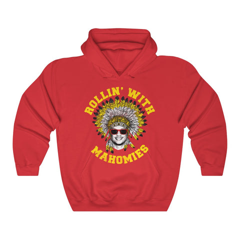 Rollin' With Mahomies Red Hoodie Unisex Heavy Blend™ Hooded Sweatshirt