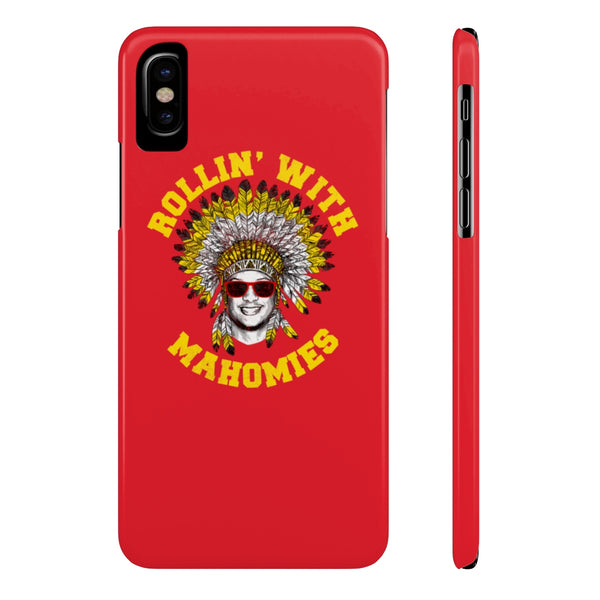 Rollin' With Mahomies Pat Mahomes Texas NFL Case Mate Slim Phone Cases Red