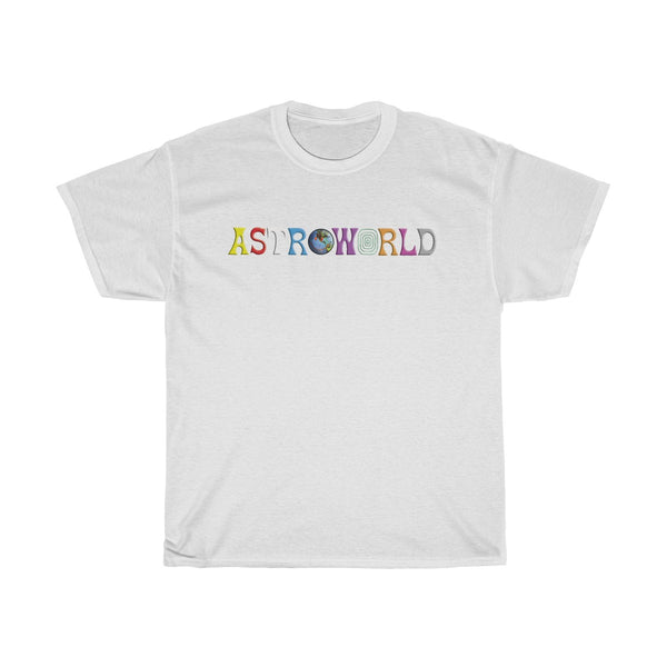 Astroworld Travis Scott Unisex Heavy Cotton White Tee Shirt